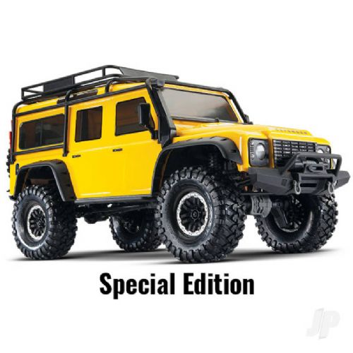 Traxxas Yellow TRX-4 Land Rover Defender 1:10 4WD Electric Scale & Trail Crawler RTD (+ TQi , XL-5